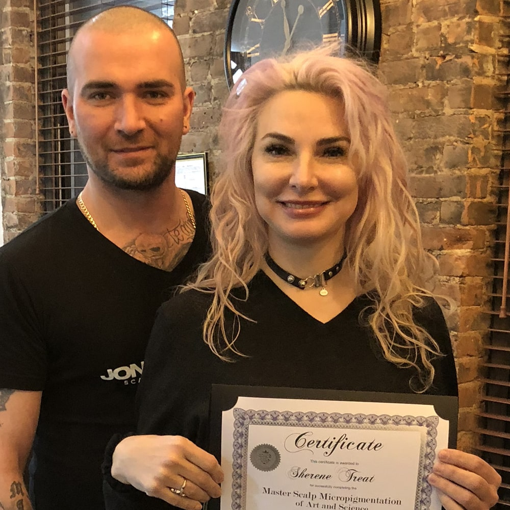 Master Scalp Micropigmentation Certificate with Jonathan Gerow NYC